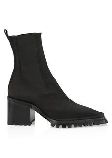 Alexander Wang Parker Lug-Sole Square-Toe Sock Boots