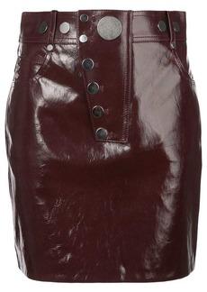 Alexander Wang patent mini skirt
