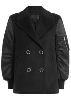 Alexander Wang Pea Coat Bomber Jacket with Wool and Cashmere
