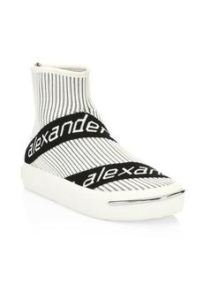 Alexander Wang Pia Logo Knit Sock Boots