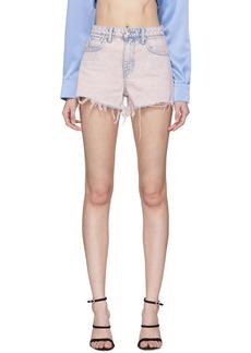 Alexander Wang Pink Denim Bite Shorts