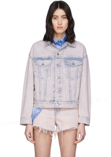 Alexander Wang Pink Denim Game Jacket