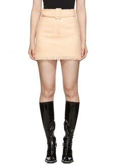 Alexander Wang Pink Tweed Belted Miniskirt