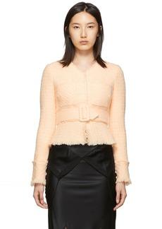 Alexander Wang Pink Tweed Fringe Jacket
