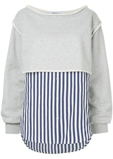 Alexander Wang pinstripe layered sweatshirt