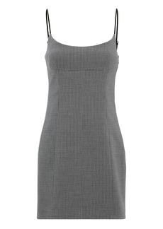 Alexander Wang Plaid Scoop Neck Tailored Mini Dress