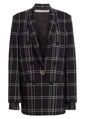 Alexander Wang Plaid Single-Breasted Peak Lapel Jacket