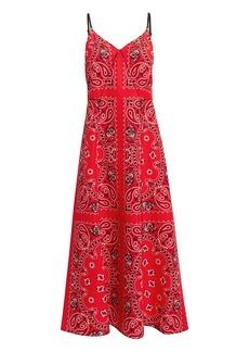 Alexander Wang Printed Bandana Slip Dress