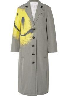 Alexander Wang Printed Houndstooth Wool-blend Coat