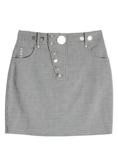 Alexander Wang Printed Mini Skirt with Virgin Wool