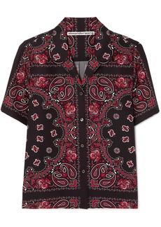 Alexander Wang Printed Silk-crepe Shirt