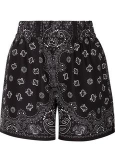 Alexander Wang Printed Silk-satin Shorts