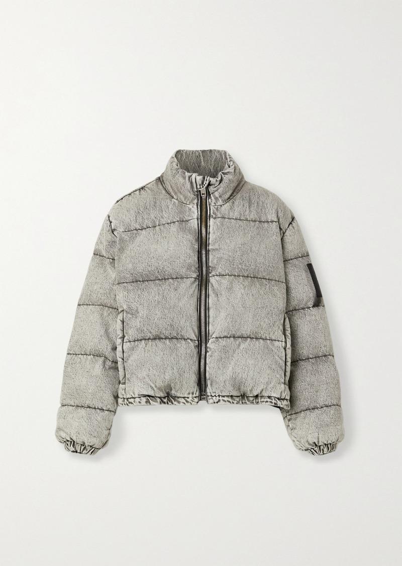 Alexander Wang Quilted Padded Acid-wash Denim Jacket