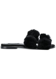Alexander Wang rabbit fur sandals