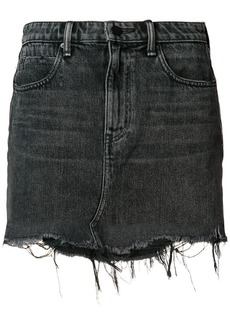 Alexander Wang raw hem denim miniskirt