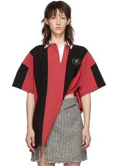 Alexander Wang Red & Black Rugby Shirt