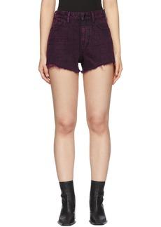 Alexander Wang Red Denim Bite Zip Shorts