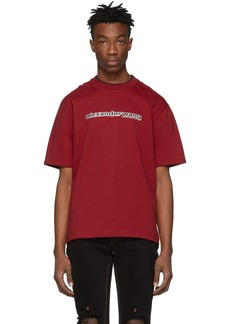 Alexander Wang Red Printed Double T-Shirt