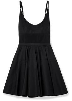 Alexander Wang Rib Knit-trimmed Cotton-poplin Mini Dress