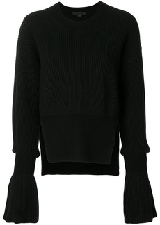 Alexander Wang ribbed bell sleeve sweater