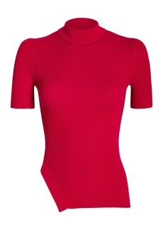 Alexander Wang Ribbed Cotton Mock Neck Top