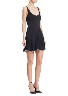 Alexander Wang Ribbed Fit-and-Flare Cami Dress