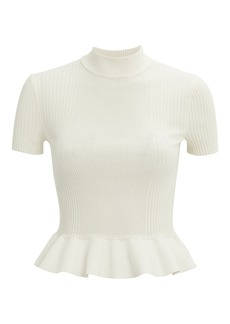 Alexander Wang Ribbed Peplum Top