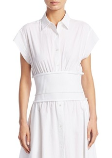 Alexander Wang Ribbed Poplin Top