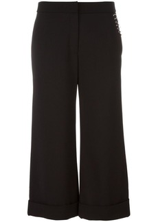 Alexander Wang ring detailed cropped trousers