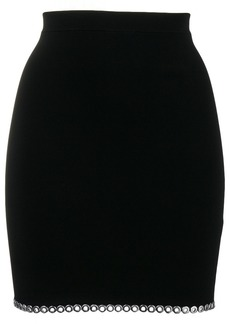 Alexander Wang rivet hem mini skirt