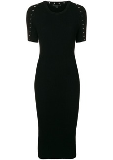 Alexander Wang round neck fitted dress