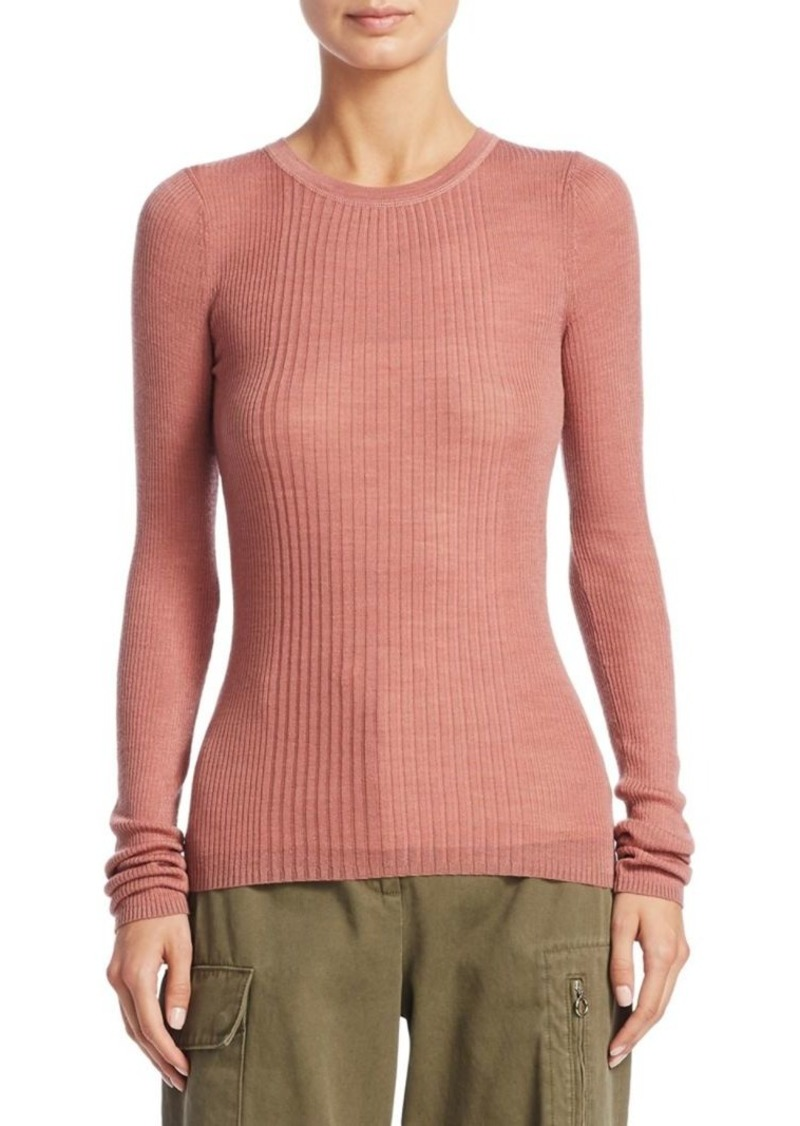 Alexander Wang Roundneck Rib-Knit Top