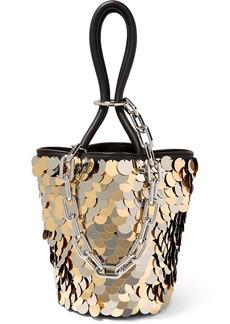Alexander Wang Roxy Mini Paillette-embellished Leather Bucket Bag