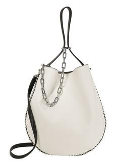 Alexander Wang Roxy White Leather Hobo Shoulder Bag