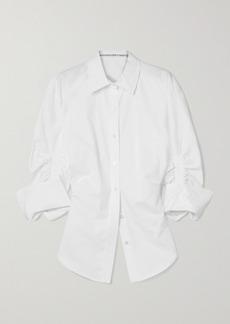 Alexander Wang Ruched Cotton-poplin Shirt