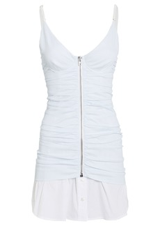 Alexander Wang Ruched Pinstripe Camisole Dress
