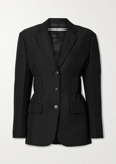 Alexander Wang Ruched Wool-blend Twill Blazer