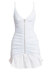 Alexander Wang Ruched Zip Front Camisole Dress