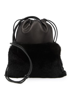 Alexander Wang Ryan Mini Genuine Rabbit Fur Leather Shoulder Bag