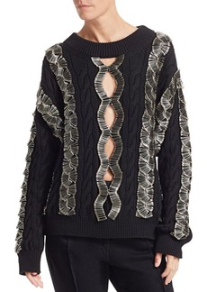 Alexander Wang Safety Pin Cable Knit Sweater