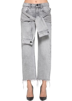 Alexander Wang Self Tie Cropped Straight Leg Jeans