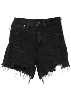 Alexander Wang side zip denim shorts
