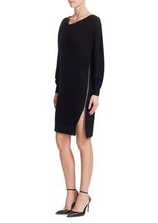 Size Zip Oversized Sweatshirt Dress