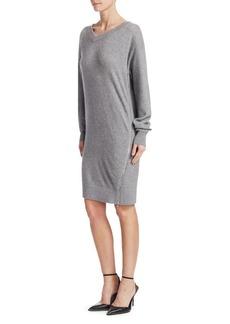 Alexander Wang Size Zip Oversized Sweatshirt Dress