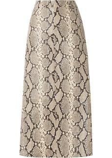 Alexander Wang Snake-effect Leather Midi Skirt