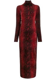 Alexander Wang snake-print long dress