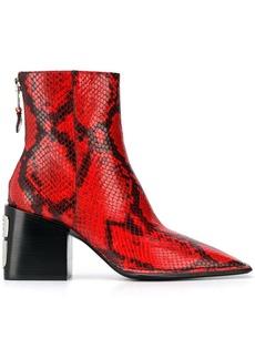 Alexander Wang snakeskin pattern ankle boots