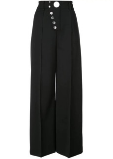 Alexander Wang snap front wide-leg trousers