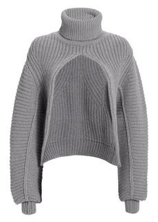 Alexander Wang Split Turtleneck Sweater