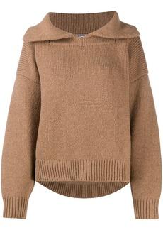 Alexander Wang spread-collar wool jumper